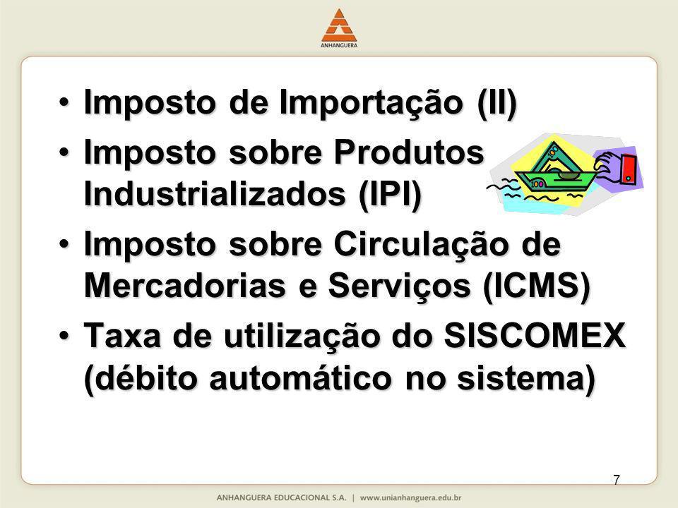 Imposto de Importação (II)