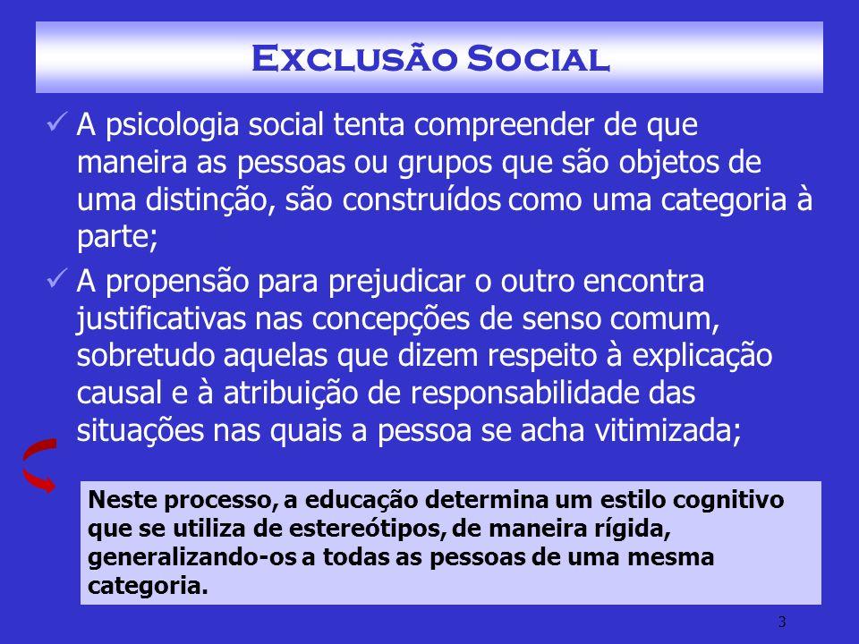 FAM - PSO II - Exclusão Social