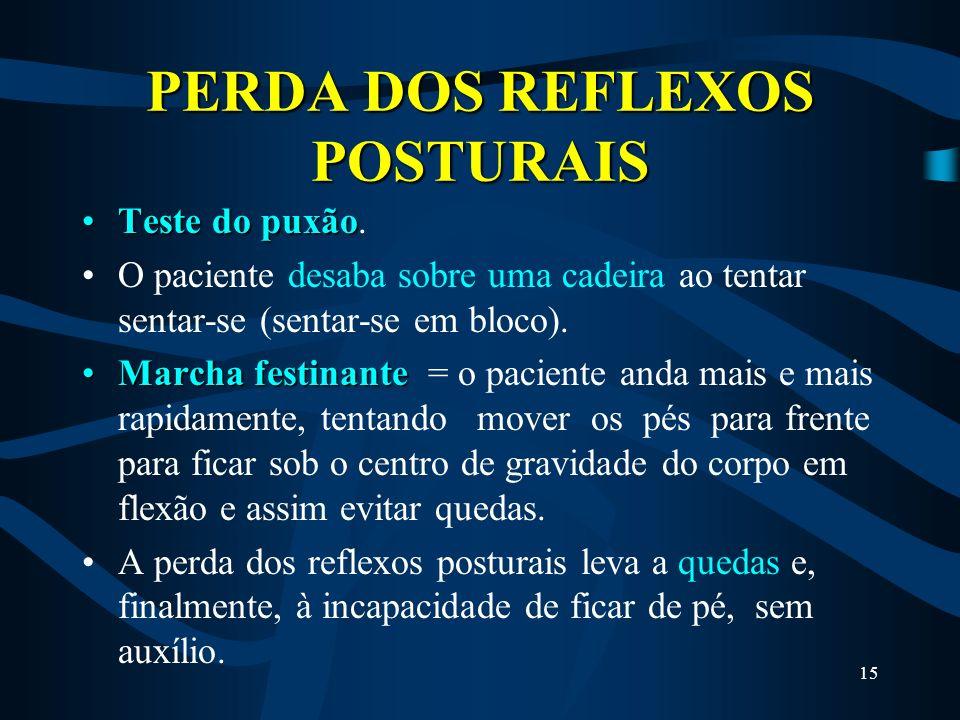 PERDA DOS REFLEXOS POSTURAIS