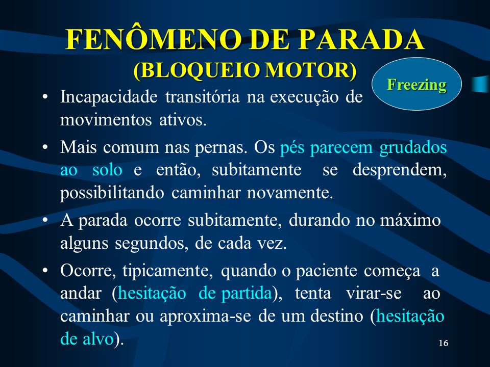 FENÔMENO DE PARADA (BLOQUEIO MOTOR)