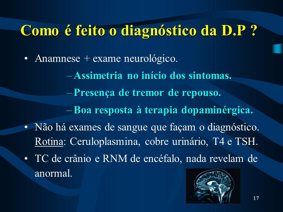 Como é feito o diagnóstico da D.P