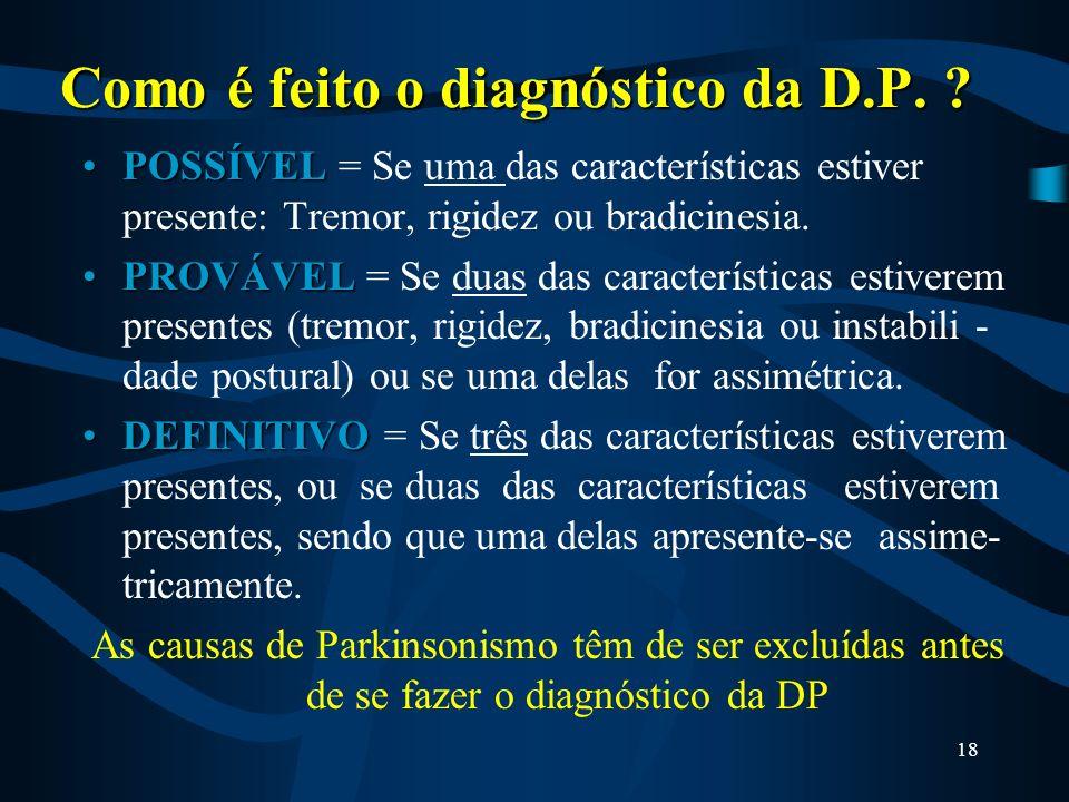 Como é feito o diagnóstico da D.P.