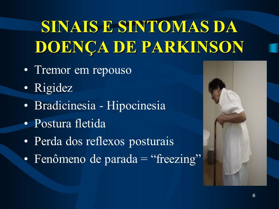 SINAIS E SINTOMAS DA DOENÇA DE PARKINSON