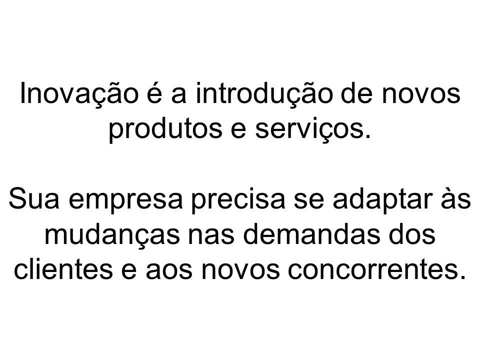 Inovação é a introdução de novos produtos e serviços