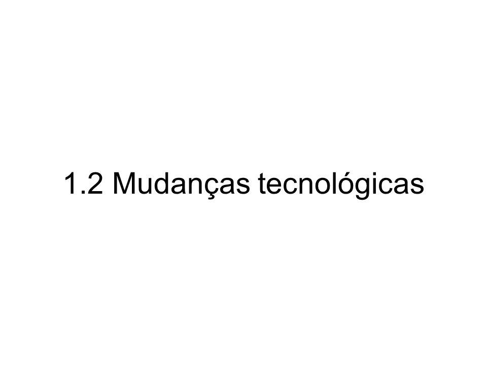 1.2 Mudanças tecnológicas