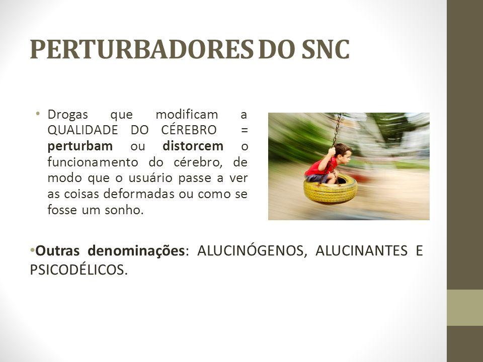 PERTURBADORES DO SNC