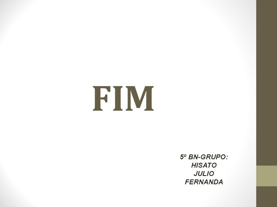 FIM 5º BN-GRUPO: HISATO JULIO FERNANDA