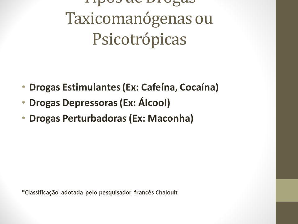 Tipos de Drogas Taxicomanógenas ou Psicotrópicas