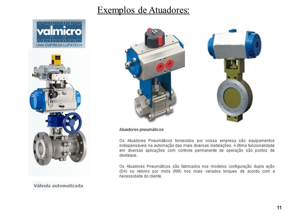 Exemplos de Atuadores: