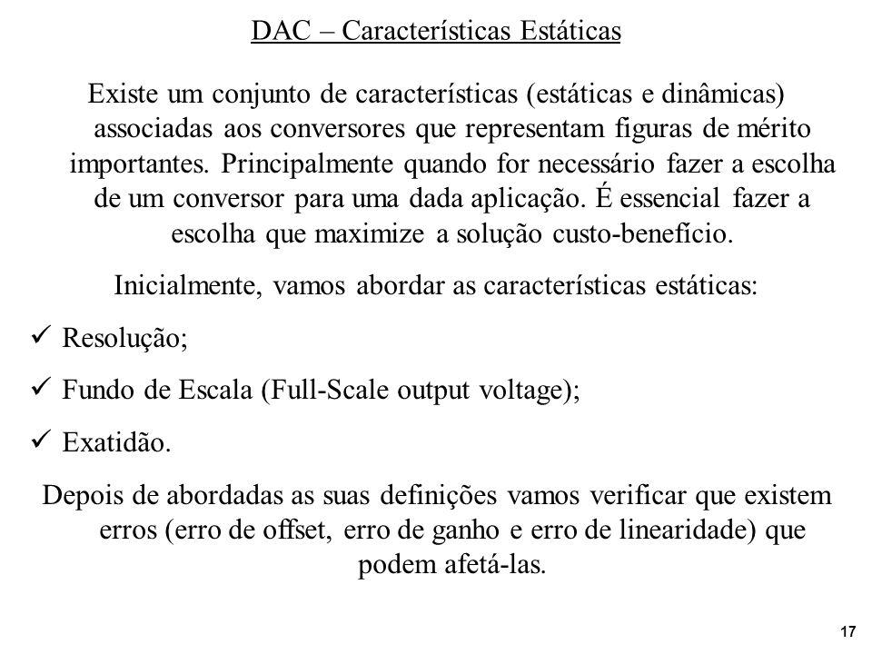 DAC – Características Estáticas