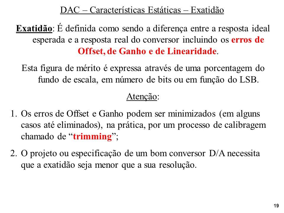 DAC – Características Estáticas – Exatidão