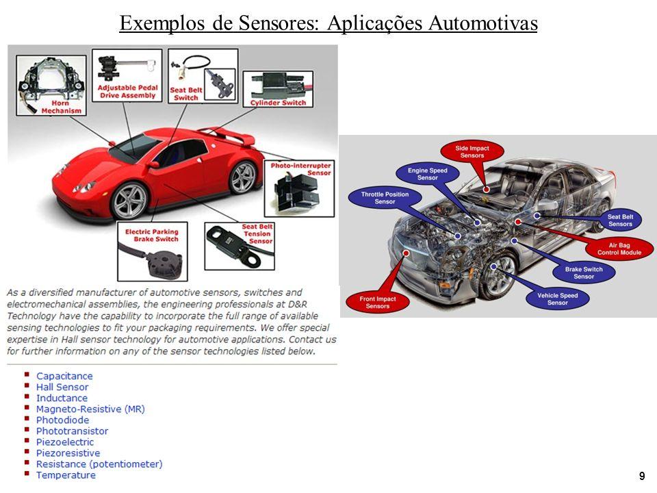 Exemplos de Sensores: Aplicações Automotivas