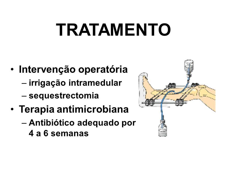 TRATAMENTO Intervenção operatória Terapia antimicrobiana