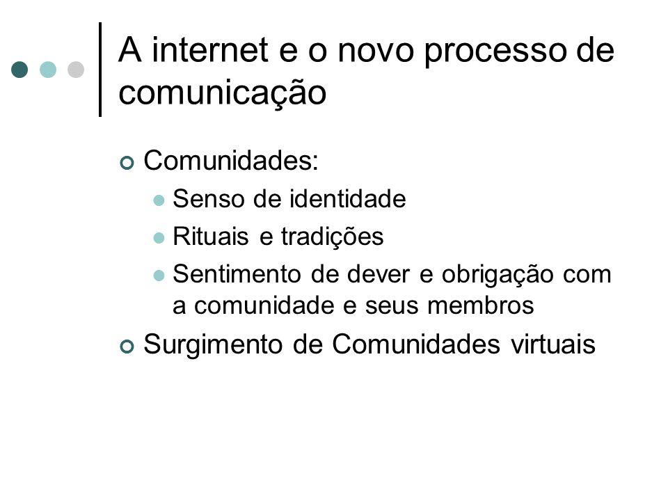 A internet e o novo processo de comunicação