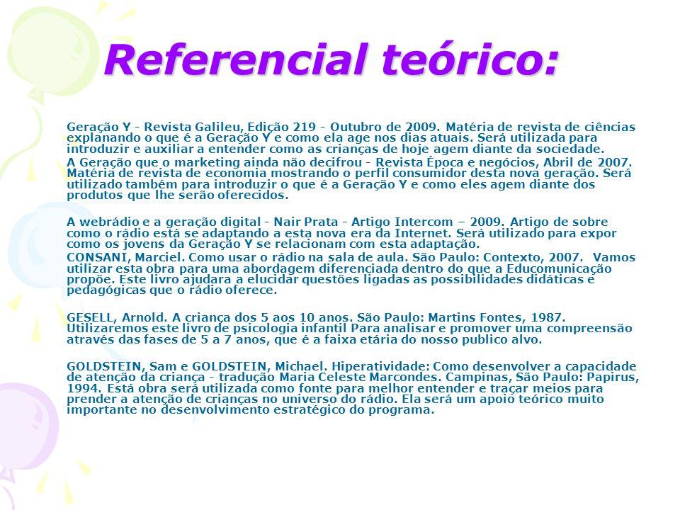 Referencial teórico: