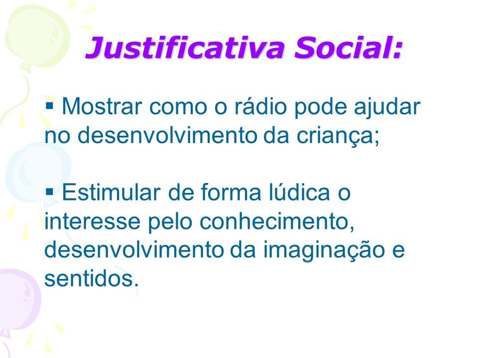 Justificativa Social: