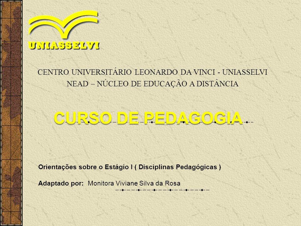 CENTRO UNIVERSITÁRIO LEONARDO DA VINCI - UNIASSELVI