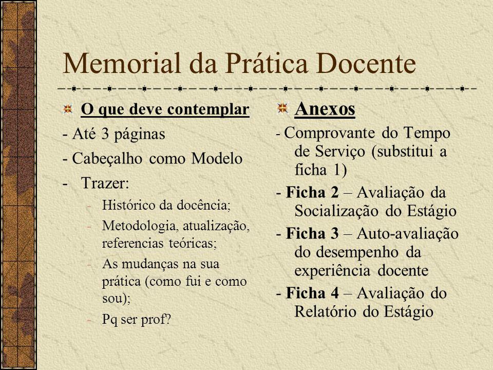 Memorial da Prática Docente
