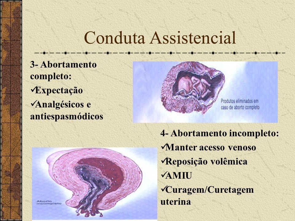Conduta Assistencial 3- Abortamento completo: Expectação
