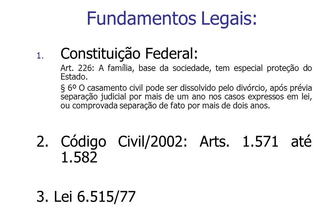 Fundamentos Legais: Constituição Federal: