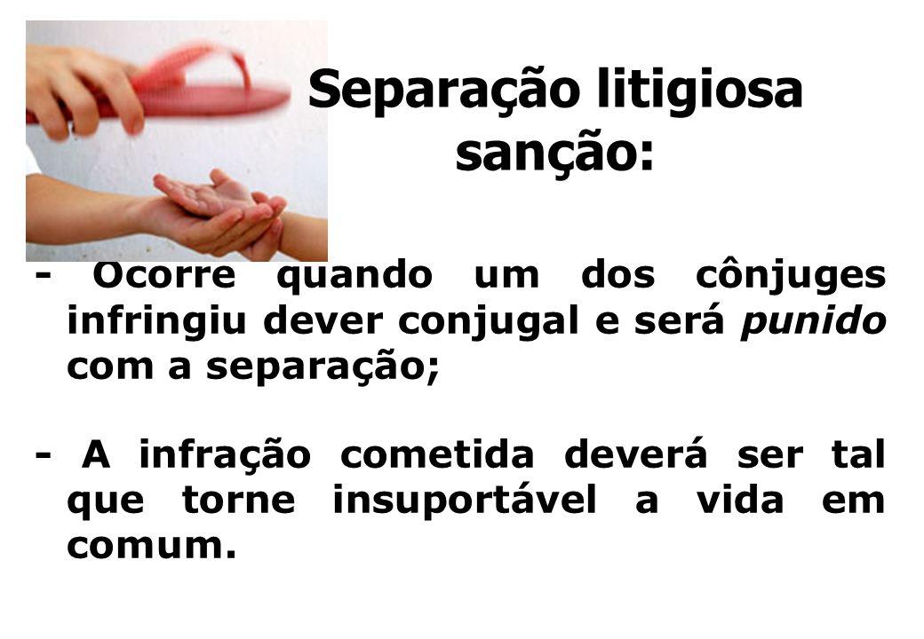 Separação litigiosa sanção: