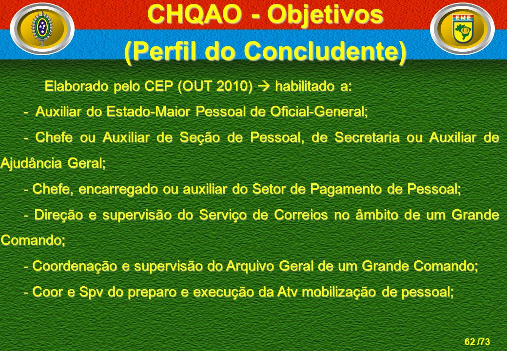 (Perfil do Concludente)