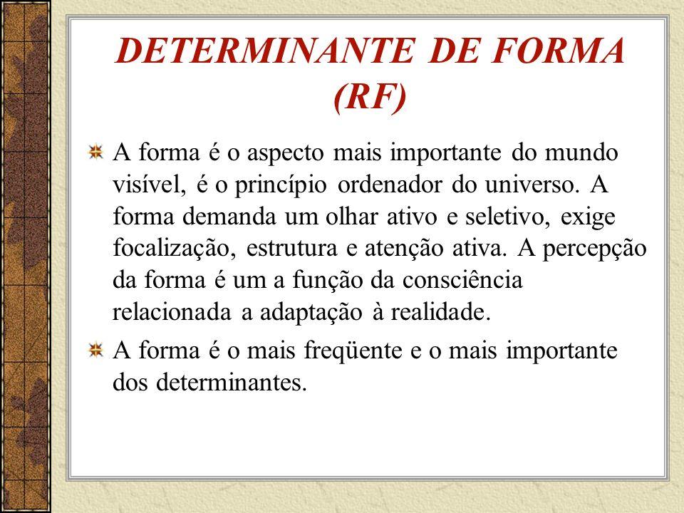 DETERMINANTE DE FORMA (RF)