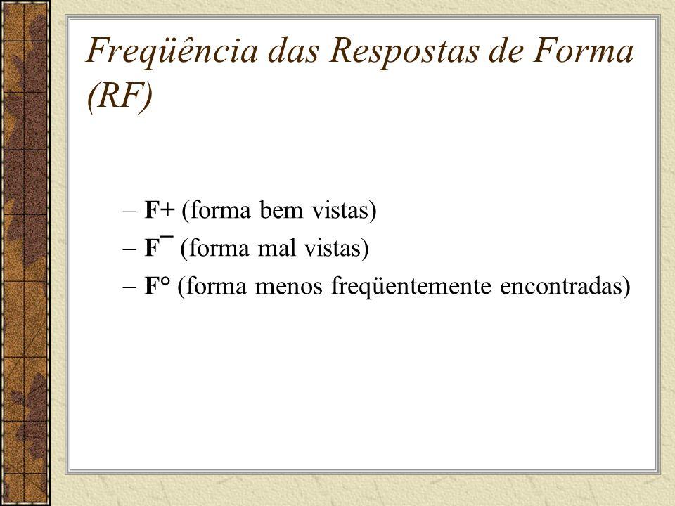 Freqüência das Respostas de Forma (RF)