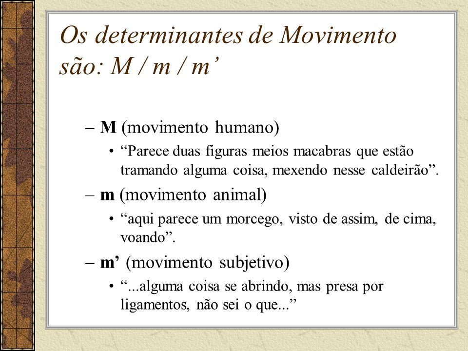 Os determinantes de Movimento são: M / m / m'