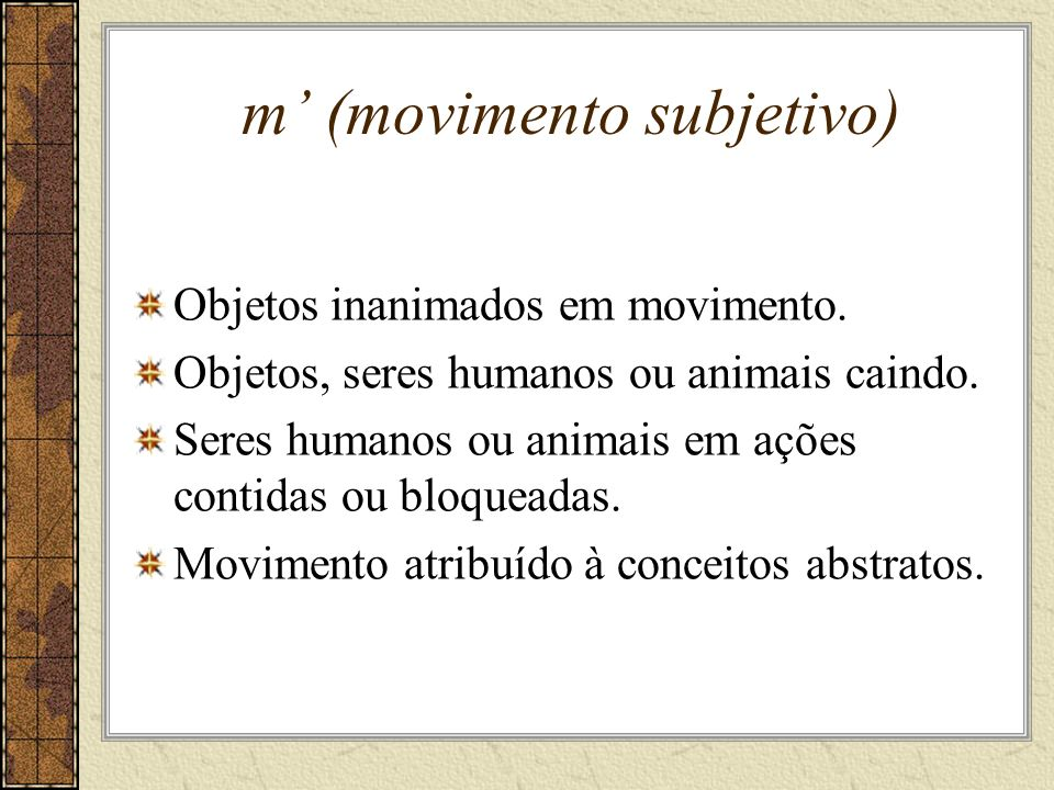 m' (movimento subjetivo)