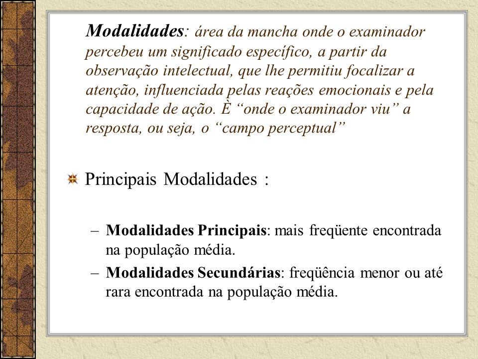 Principais Modalidades :