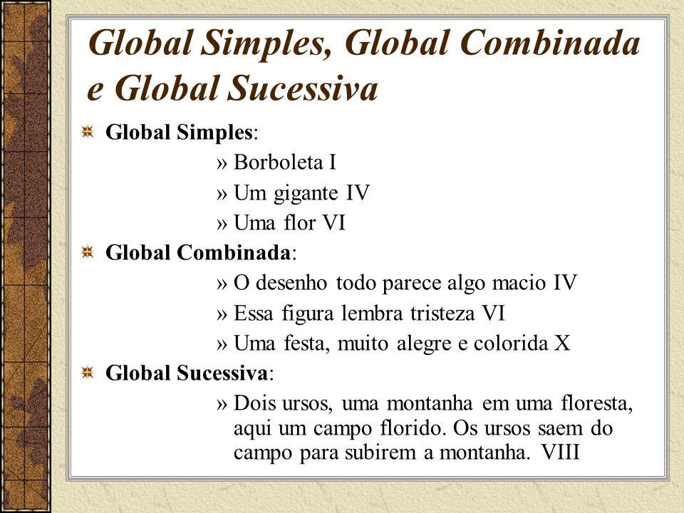 Global Simples, Global Combinada e Global Sucessiva