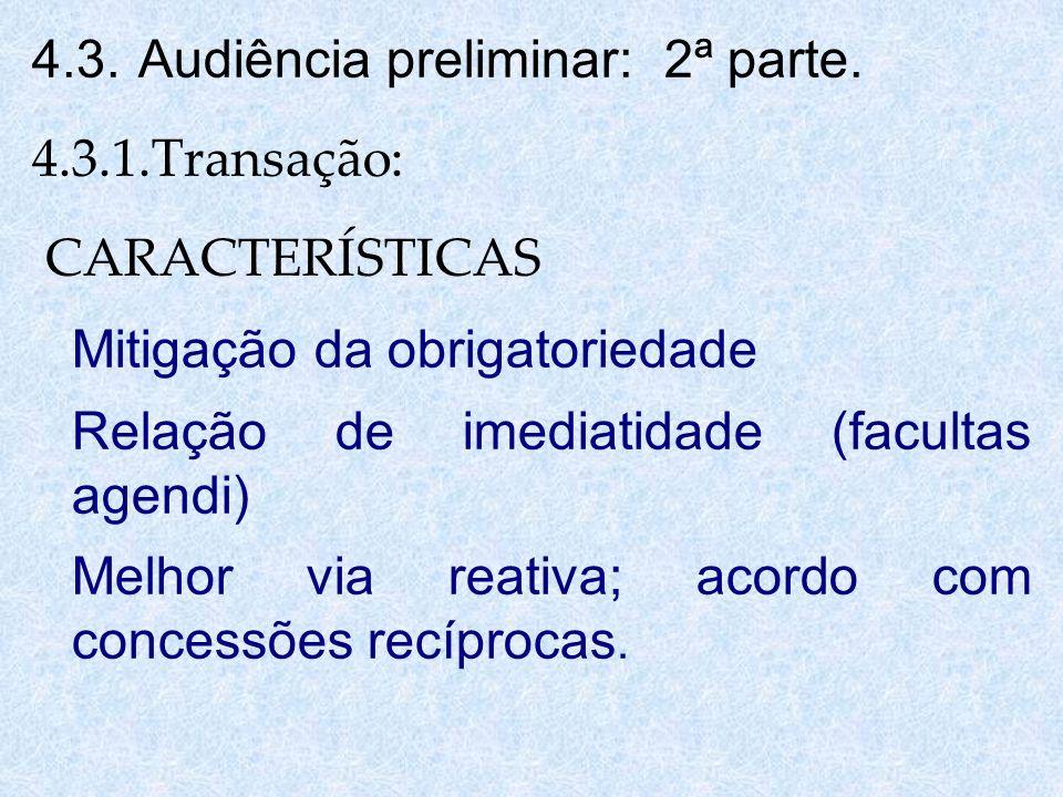 4.3. Audiência preliminar: 2ª parte.
