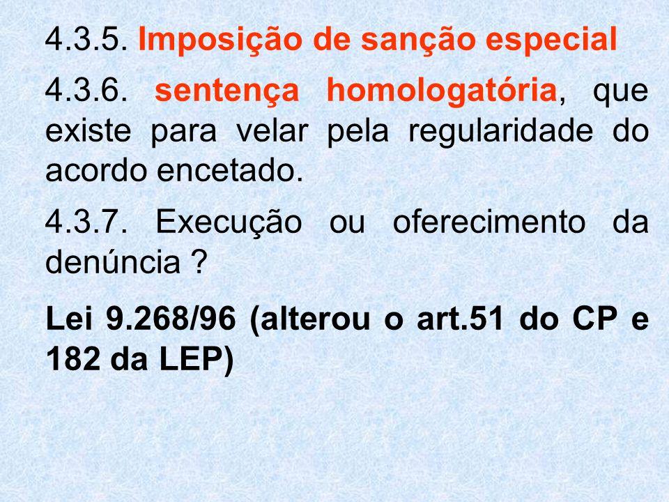4.3.5. Imposição de sanção especial