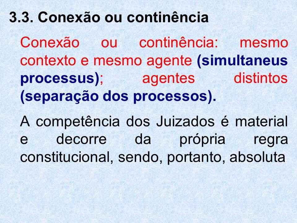 3.3. Conexão ou continência