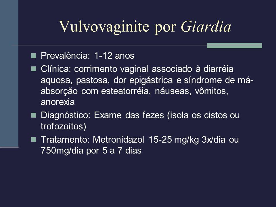 Vulvovaginite por Giardia