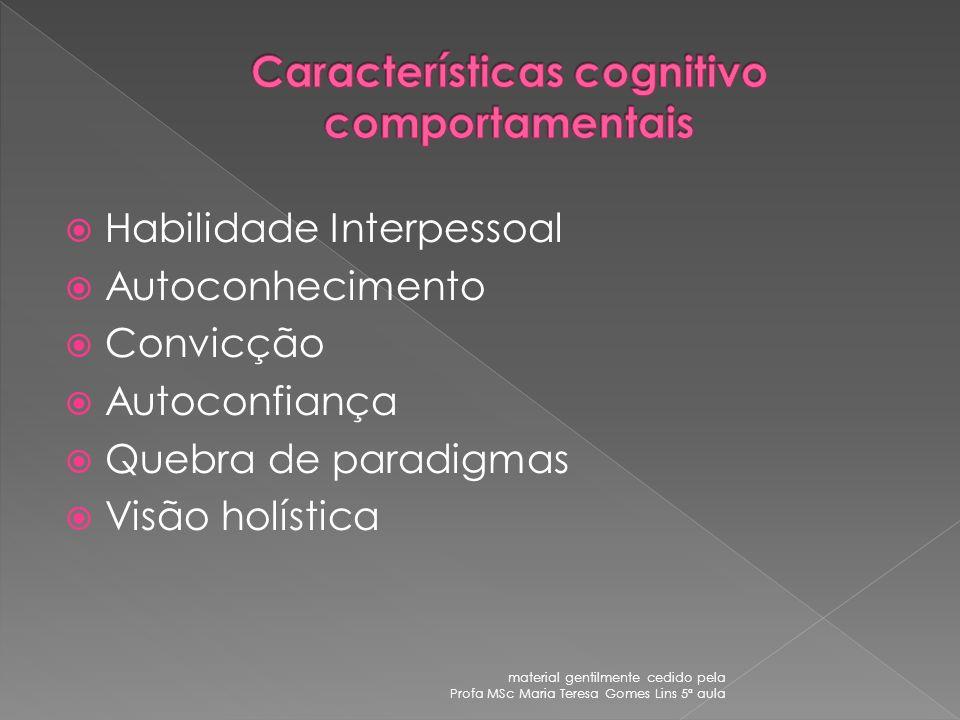 Características cognitivo comportamentais