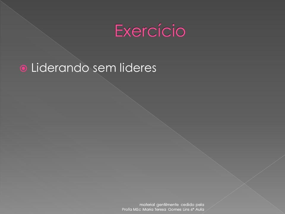 Exercício Liderando sem lideres material gentilmente cedido pela