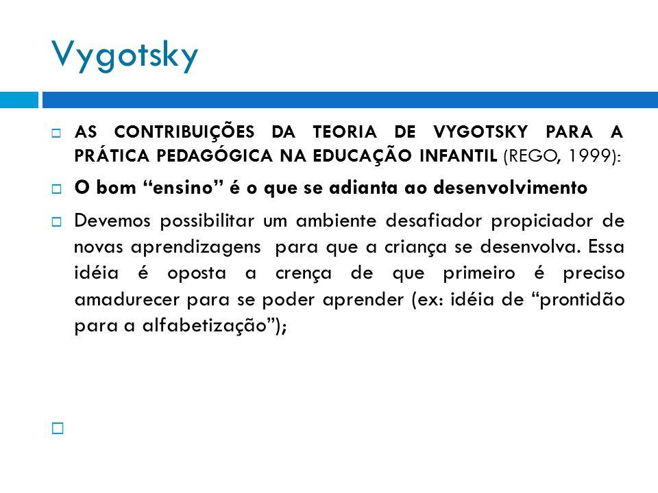 Vygotsky O bom ensino é o que se adianta ao desenvolvimento