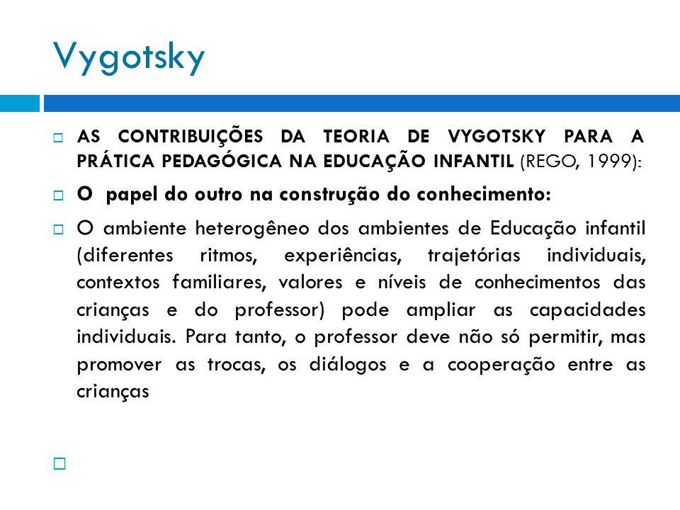 Vygotsky O papel do outro na construção do conhecimento: