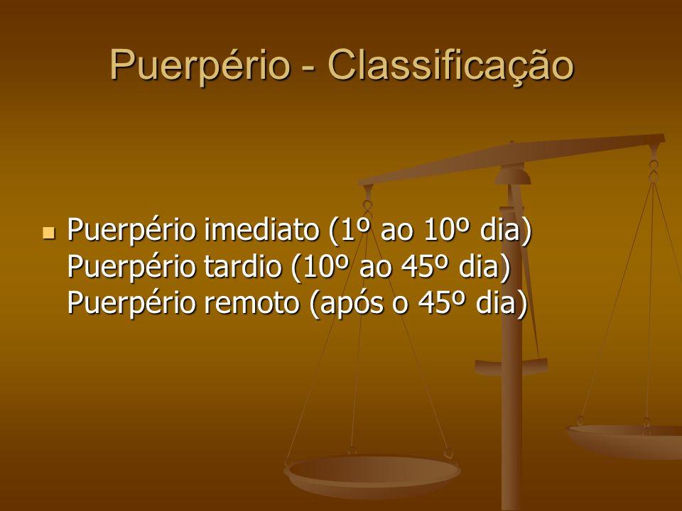 Puerpério - Classificação