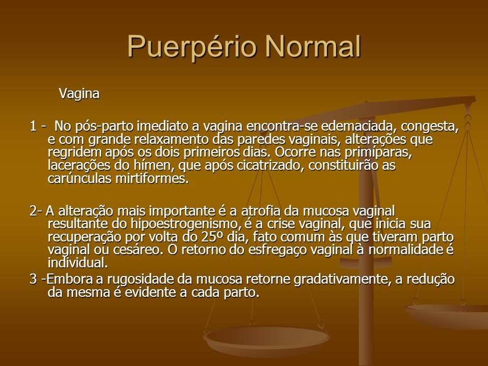 Puerpério Normal