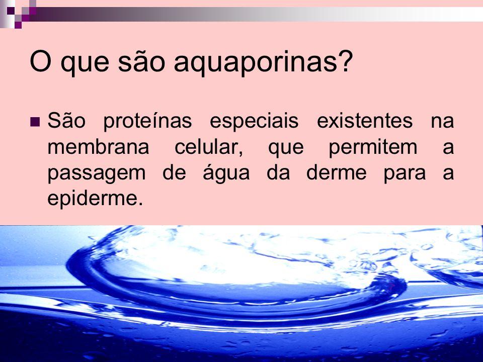 O que são aquaporinas.