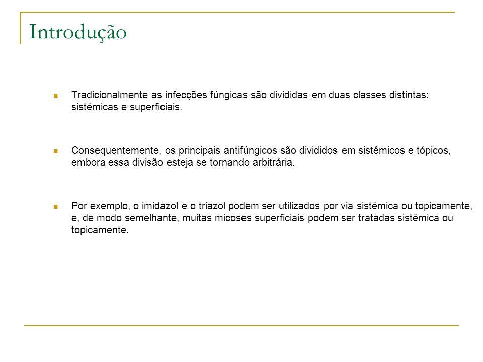 Introdução Tradicionalmente as infecções fúngicas são divididas em duas classes distintas: sistêmicas e superficiais.