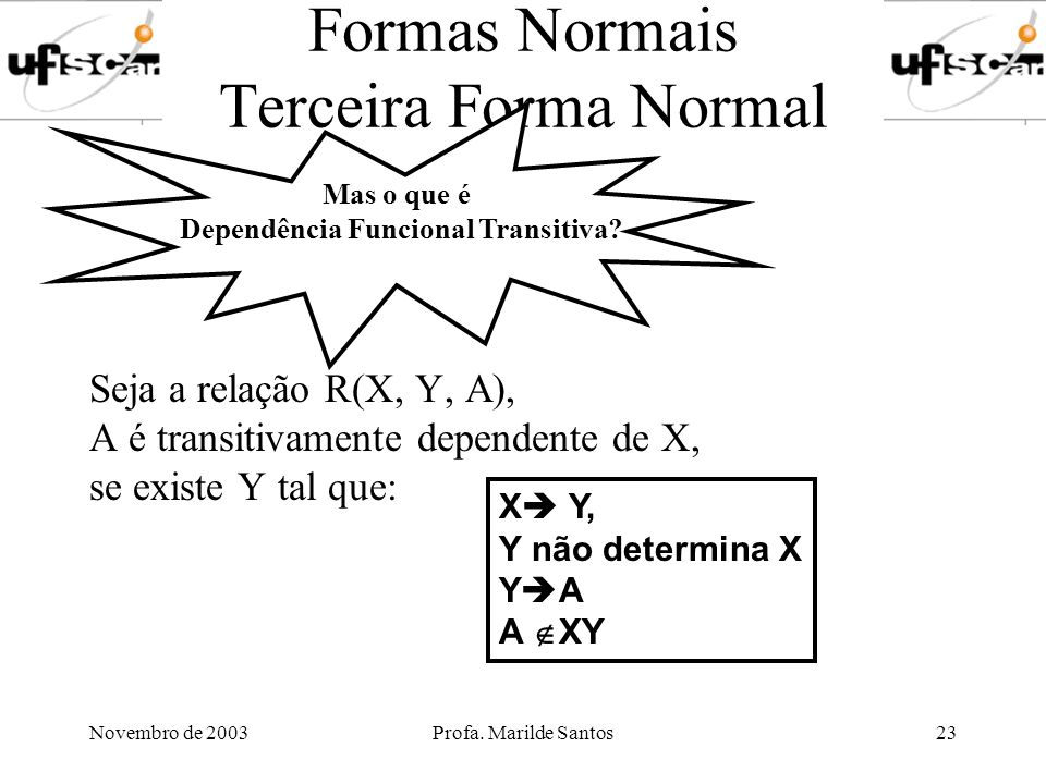 Formas Normais Terceira Forma Normal