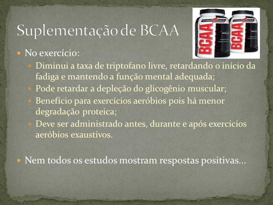 Suplementação de BCAA No exercício: