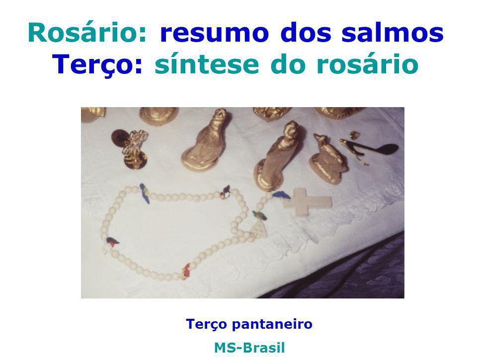 Rosário: resumo dos salmos Terço: síntese do rosário