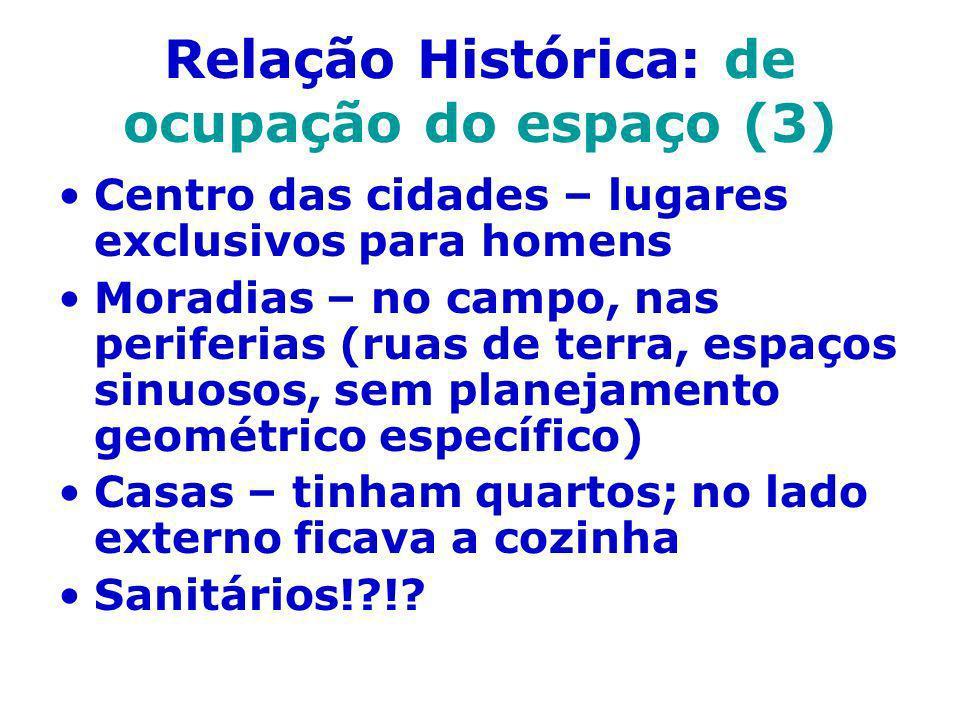 Relação Histórica: de ocupação do espaço (3)
