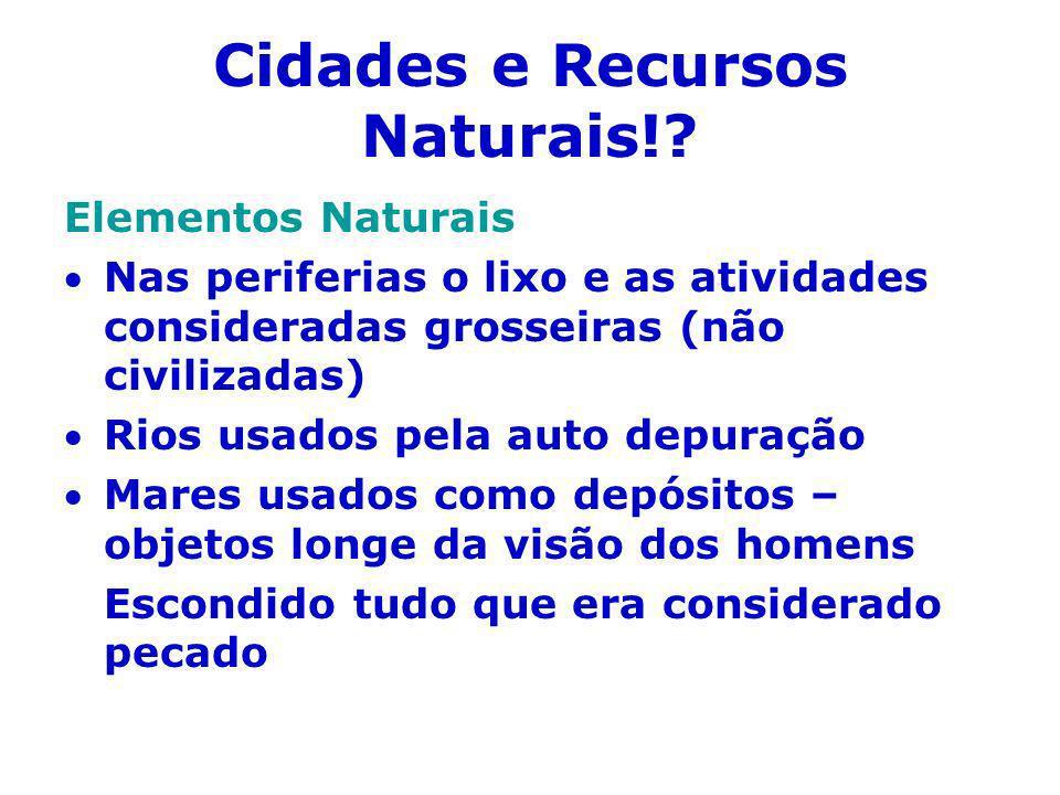 Cidades e Recursos Naturais!