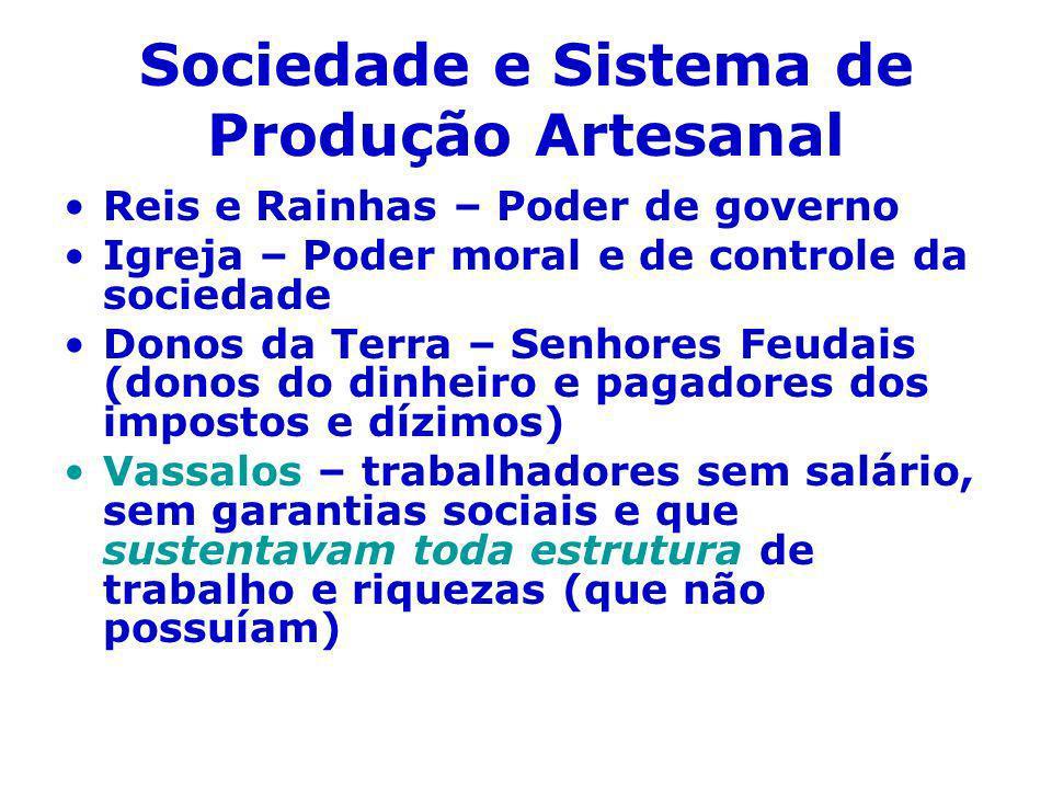Sociedade e Sistema de Produção Artesanal